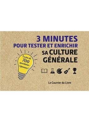 3 minutes pour tester et enrichir sa culture générale