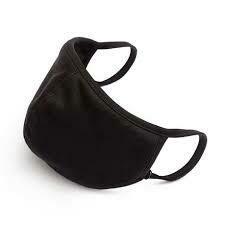 Plain Cloth Masks - Black or White