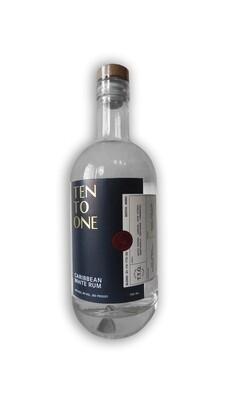 Ten To One Caribbean White Rum 750mL