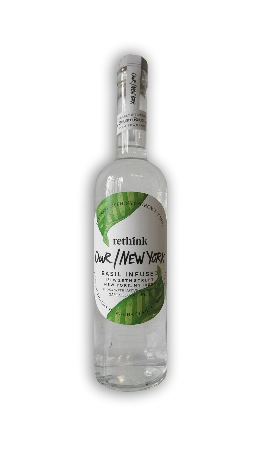 rethink Our/New York Vodka Basil Infused