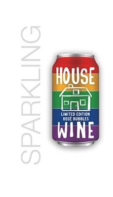 House Wine Bubbles 375 ML Rainbow Can