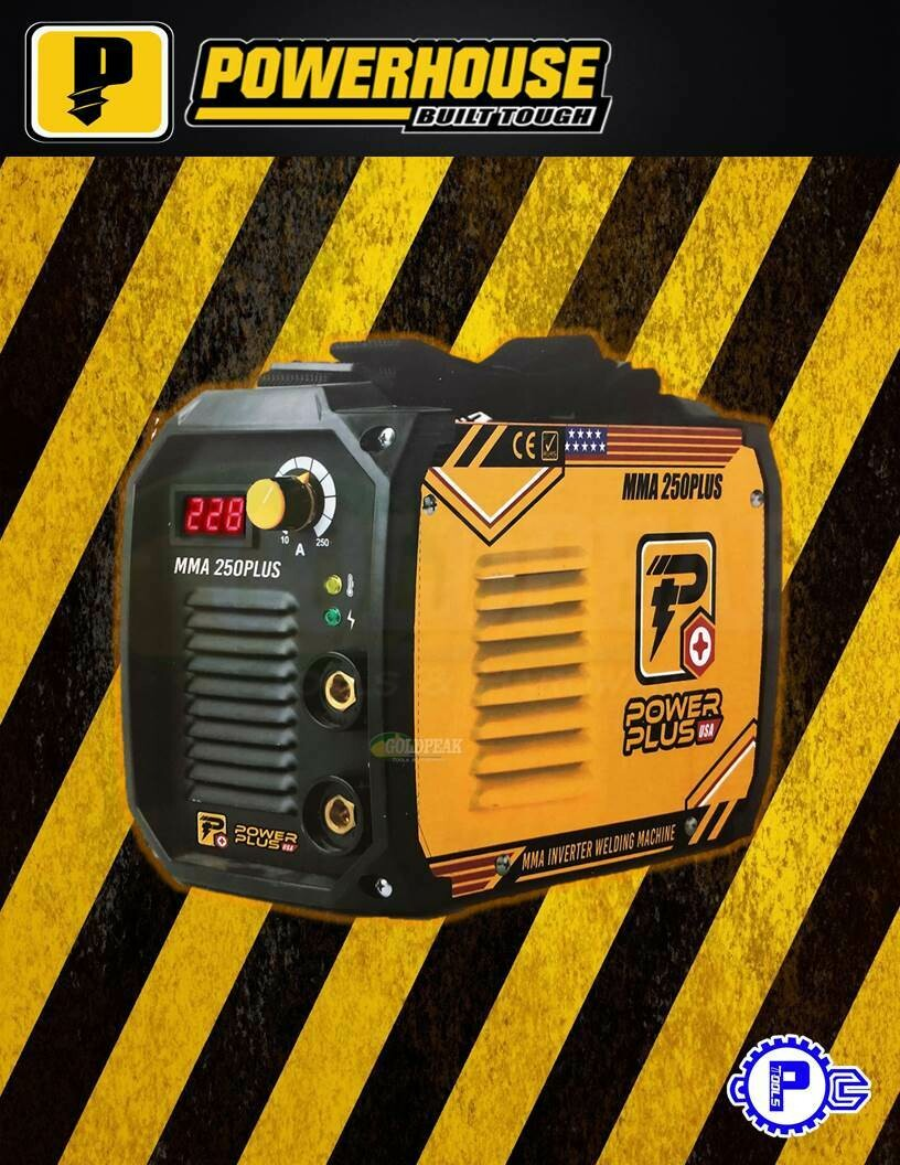 POWERHOUSE USA - 250A Power Plus Inverter Welding Machine MMA-250PLUS PowerPlus