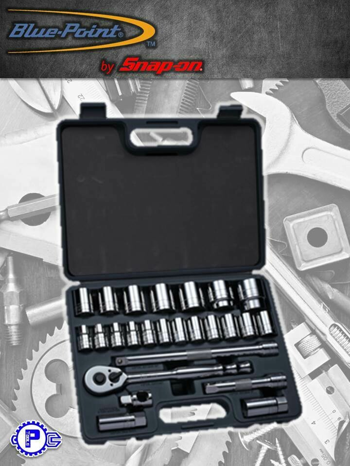 "Bluepoint - SOCKET SET 25 PC 1/2"" DR 6PT 10-36MM"