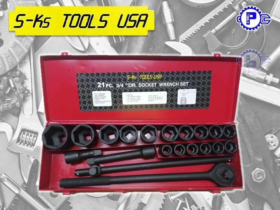"""S-Ks Tools USA 17pcs 3/4"""" DR. Socket Wrench Set"""