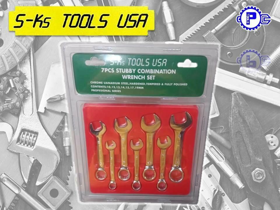 S-Ks Tools USA Stubby Combination wrench Set