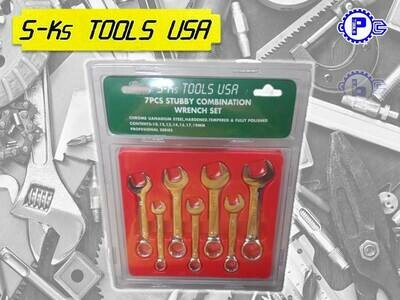 S-Ks Tools USA Stubby Combination wrench Set