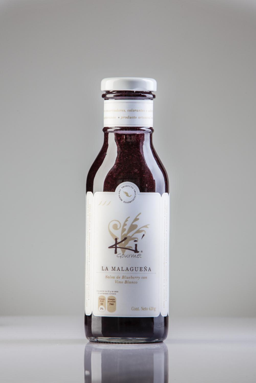 Salsa La Malagueña (Salsa de Blueberry con Vino Blanco)