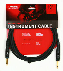 D'Addario Planet Waves PW-G-10 Custom Series Instrument Cable - 10ft and 20ft
