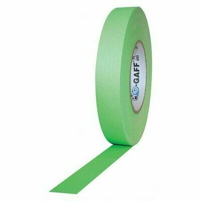 Pro Gaff Fluorescent Gaffer Tape 24mm - Pink, Blue or Green