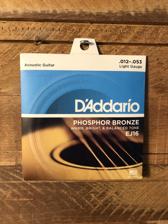 D'Addario Phosphor Bronze (12-53) Acoustic Guitar Strings
