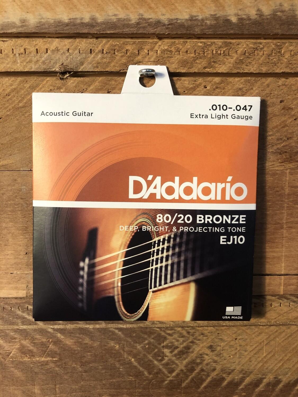 D'Addario Phosphor Bronze (10-47) Acoustic Guitar Strings