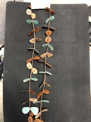 Tagua Slice Necklace (Long)