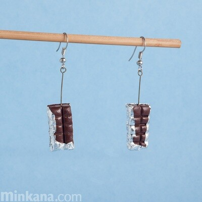 Chocolate Bars Earrings