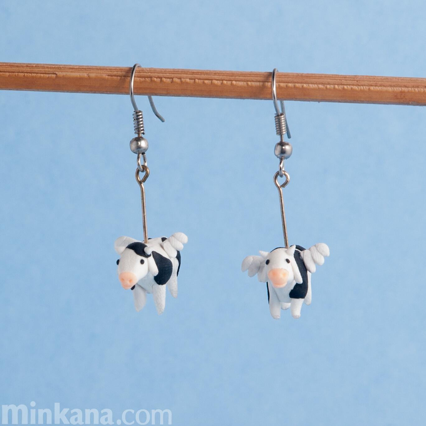 Flying Cows Earrings
