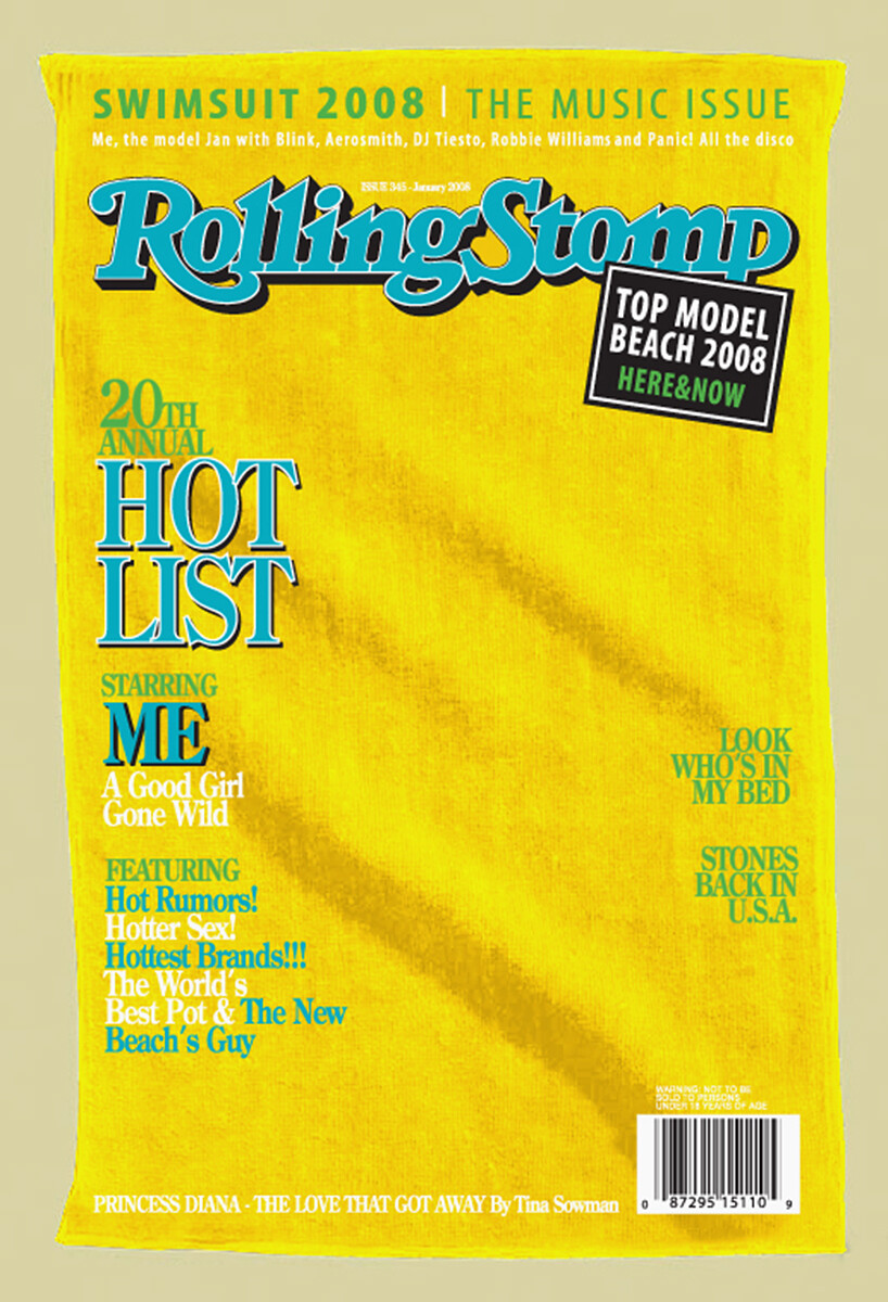 "Magazine Cover Beach Towels ""Rolling Stomp"""