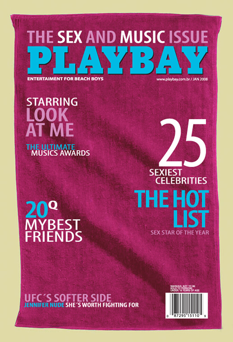 "Magazine Cover Beach Towels ""PlayBay"""