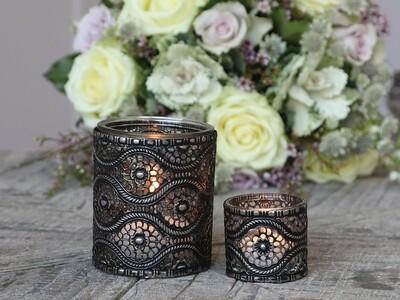 Teelichthalter mit Dekor