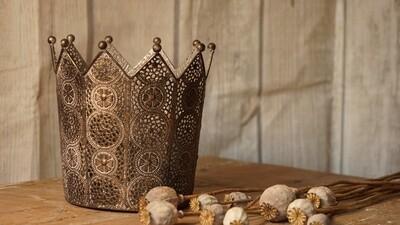 Teelicht Krone