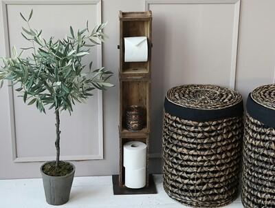 Toilettenpapierständer aus Backsteinformen