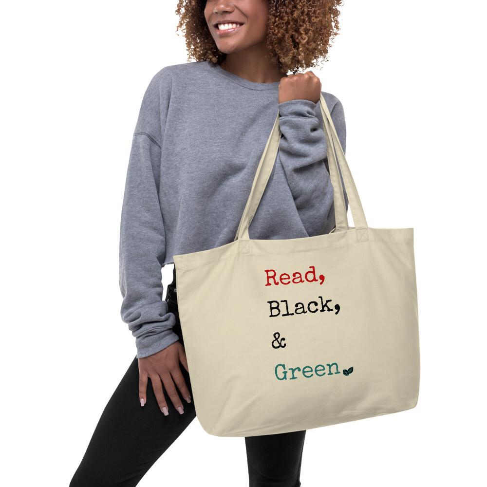 Read, Black & Green Tote