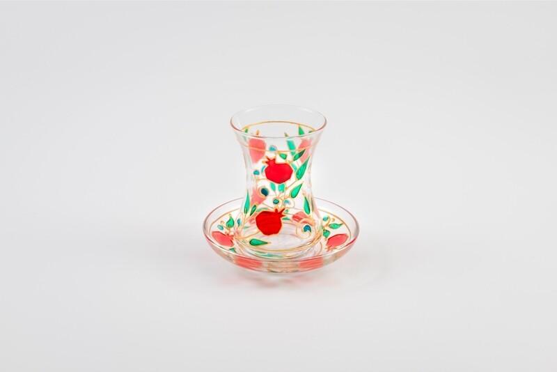 Armudu glass- Juicy Pomegranates