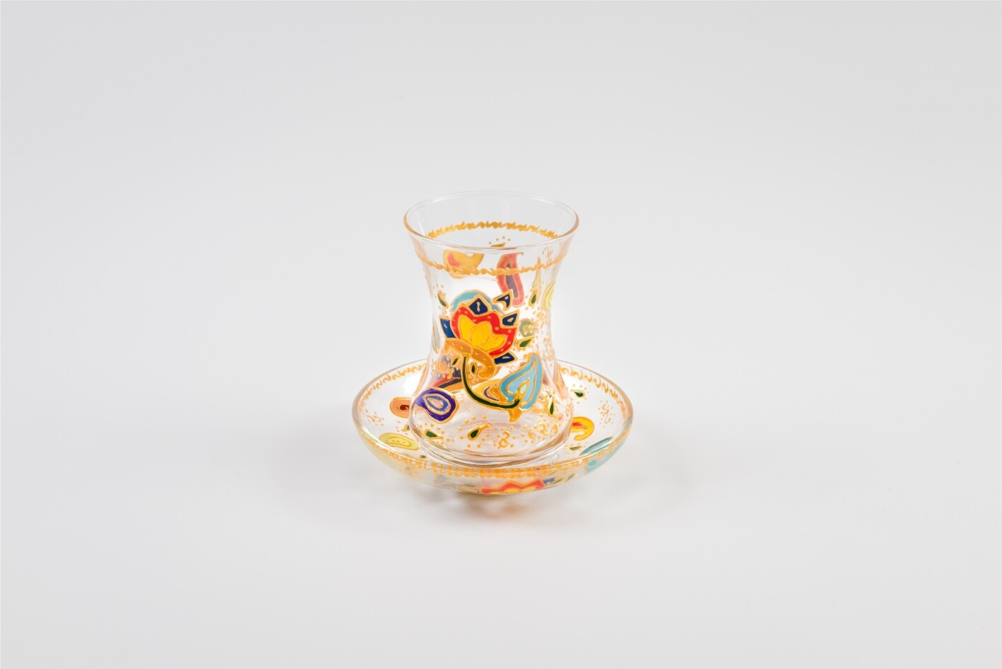 Armudu glass -Buta and Flowers