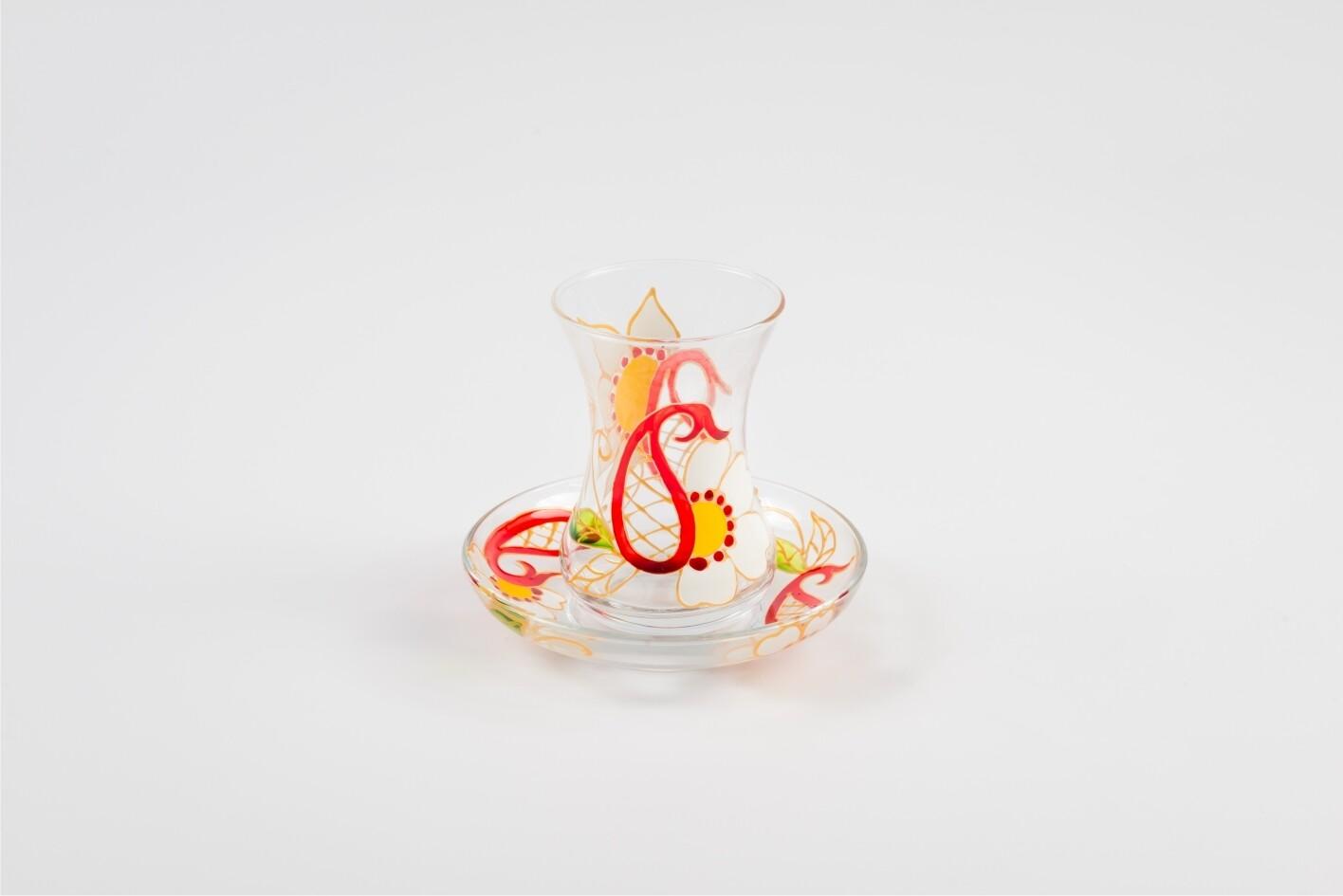 Armudu glass - Red Buta