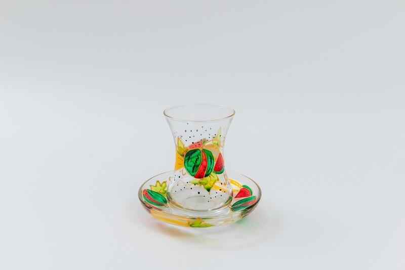 Armudu glass -Watermelon