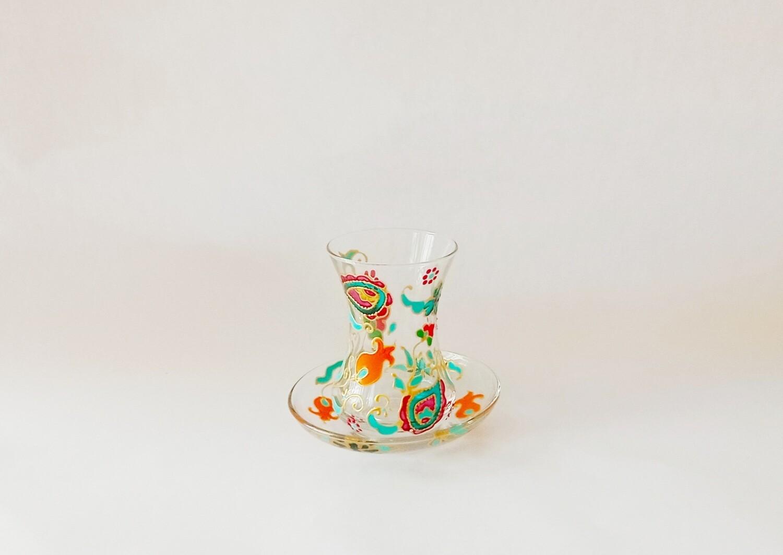 Armudu glass - Pomegranate Fantasy