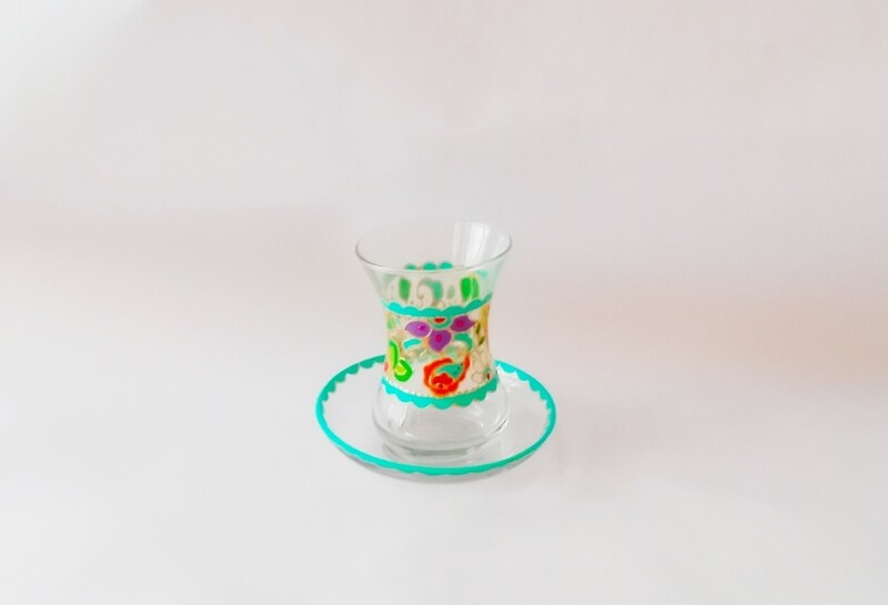 Armudu glass - Simply Turquoise