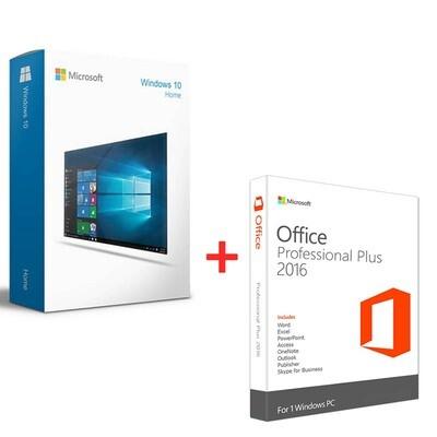 Цифровой ключ активации Windows 10 Home + Office 2016 ProPlus