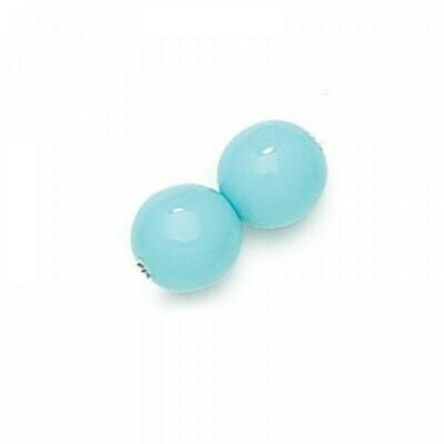 4mm Czech Round Druk Beads - Blue Turquoise