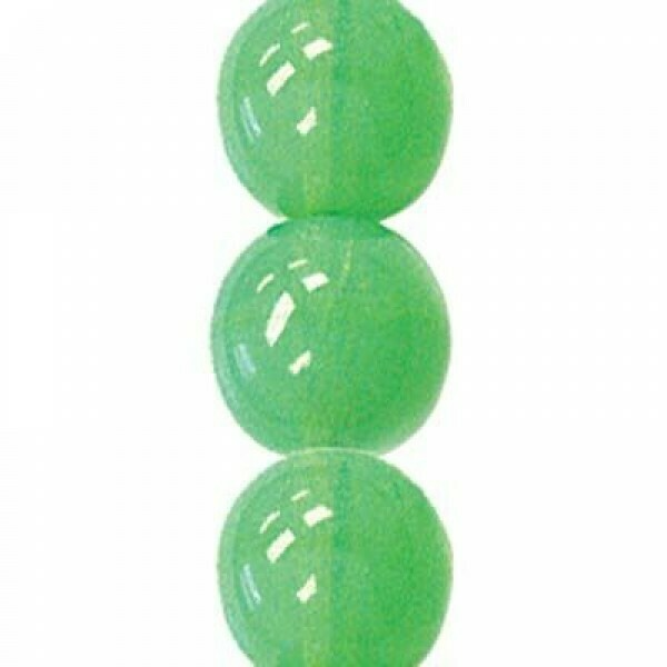 4mm Czech Round Druk Beads - Jade Opal
