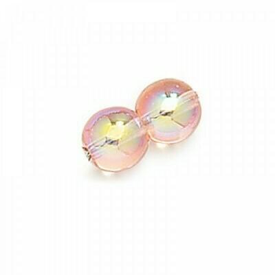 3mm Czech Round Druk Beads - Pink AB