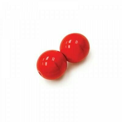 4mm Czech Round Druk Beads - Coral