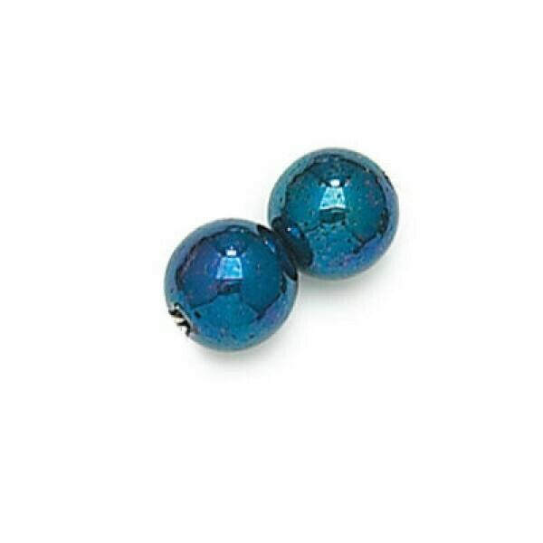 4mm Czech Round Druk Beads - Blue Iris