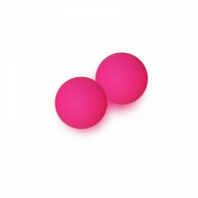 4mm Czech Round Druk Beads - Bright Neon Pink