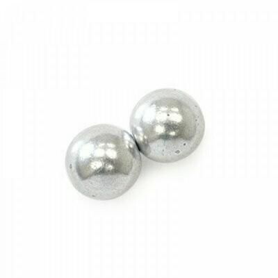 3mm Czech Round Druk Beads - Matte Silver