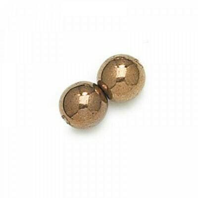 3mm Czech Round Druk Beads - Light Bronze