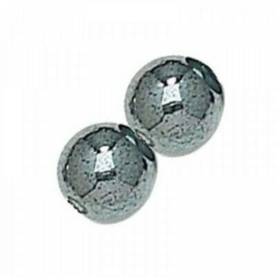 3mm Czech Round Druk Beads - Hematite
