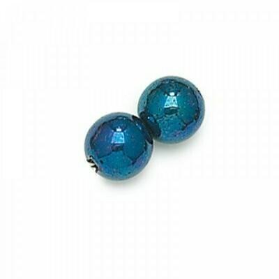 3mm Czech Round Druk Beads - Blue Iris