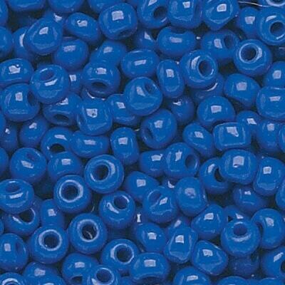 Royal Blue Opaque Size 11 Czech Seed Beads - Hank