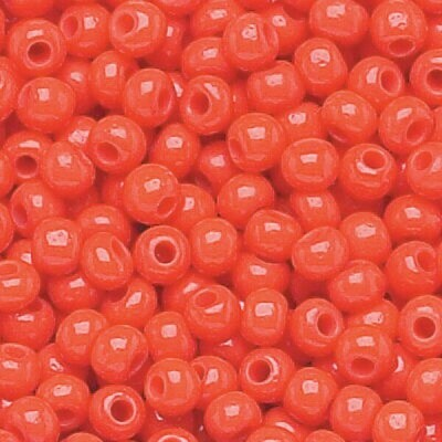 Bright Red Opaque Size 11 Czech Seed Beads - Hank