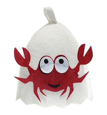 Dětská čepice do sauny krab, 50% vlna