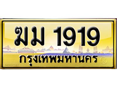 ทะเบียนซีรี่ย์ 1919 ทะเบียนสวยจากกรมขนส่ง-ฆม 1919