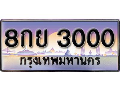 ทะเบียนซีรี่ย์  3000   ทะเบียนสวยจากกรมขนส่ง 8กย 3000