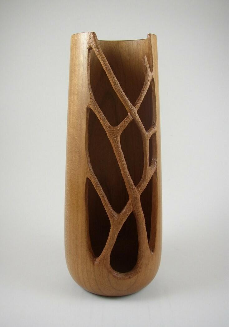 Carved Cherry Vase