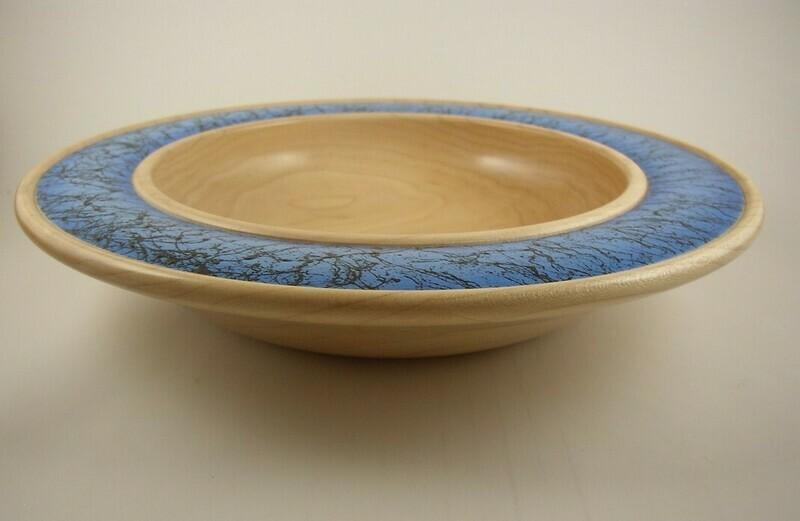 Maple Bowl with Embellished Rim