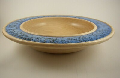 Maple Bowl with Embellished Rim
