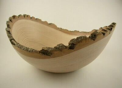 Natural Edge Ash Bowl